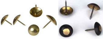 copper color antiqure furniture pins